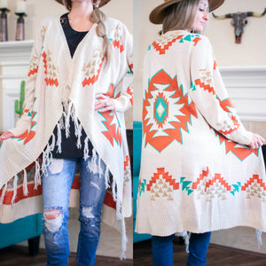 Aztec And Cream Cardigan