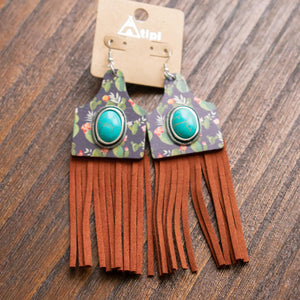 Cactus Fringe Earrings