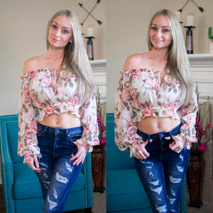 Floral Off The Shoulder Date Night Top
