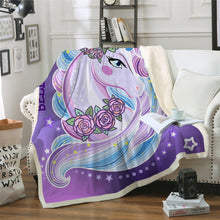 Load image into Gallery viewer, Unicorn Blanket #11 | Qolombo