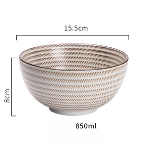 Japanese classical ceramic tableware kitchen soup noodle rice bowl 6 inch 8 inch big ramen bowl  spoon and tea cup