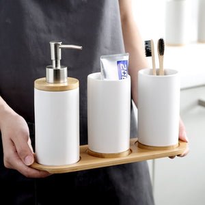 Ceramic Bamboo Bathroom Set | Qolombo
