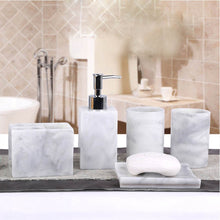 Load image into Gallery viewer, 5 Pieces Resin Bath Accessories | Qolombo