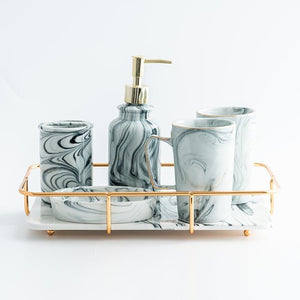 Marble Pattern bathroom set | Qolombo