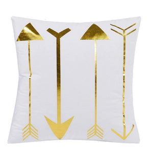 Golden Arrows Cushion Cover