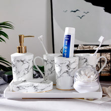 Load image into Gallery viewer, Marble Bathroom Accessories Set | Qolombo