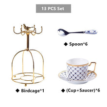 Load image into Gallery viewer, Elegant Bone China Coffee Set Gold Porcelain Tea Set Luxury Pot Cup Advanced Ceramic Mug Sugar Bowl Creamer Teapot Milk Jug