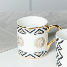 Load image into Gallery viewer, Luxury Gold Totems Mosaic Geometric Flamingo Ceramic Coffee Mug Coffee Cup Gold Breakfast Milk Water Cup Couple Creative Gifts