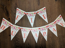 Load image into Gallery viewer, Eid Mubarak Bunting - Pink Floral
