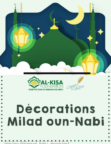 Milad un Nabi Decorations (French)