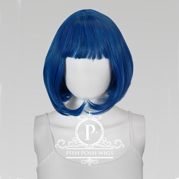 Lilo Shadow Blue Short Wig Frontal View