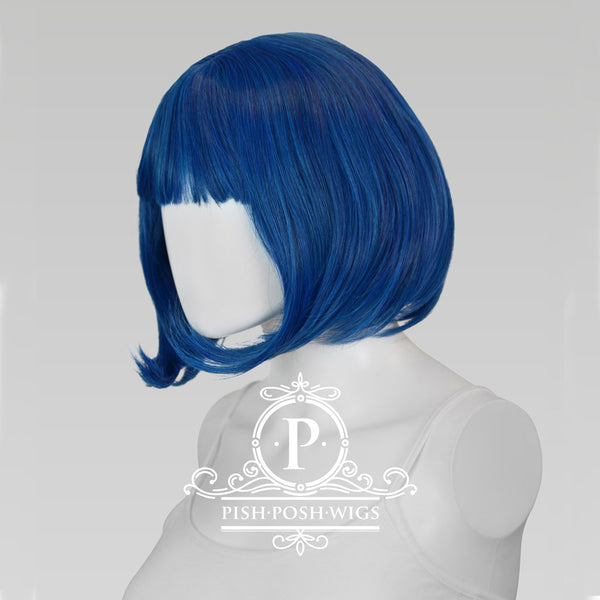 Lilo Shadow Blue Short Wig Profile View