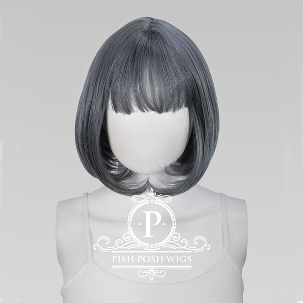 Lilo Graphite Grey Short Wig Frontal View