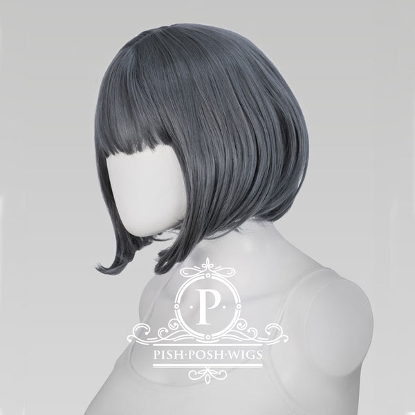 Lilo Graphite Grey Short Wig Profile View