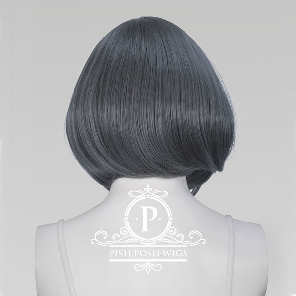 Lilo Graphite Grey Short Wig Back View