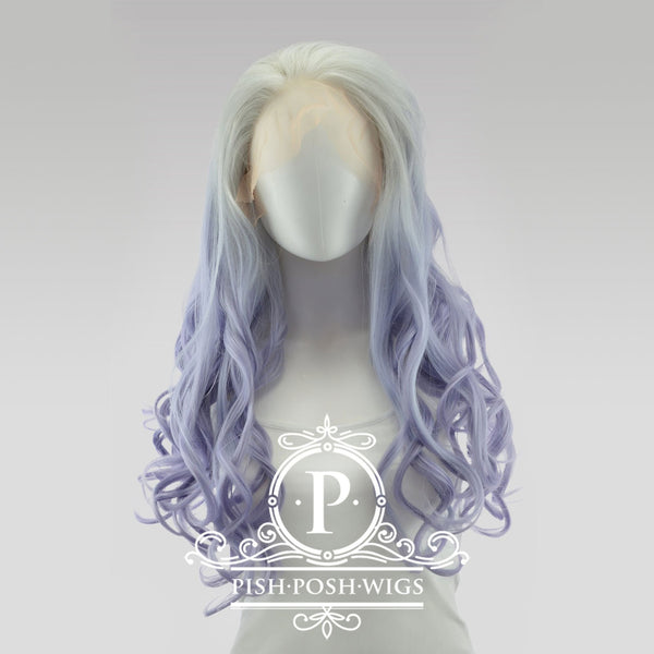 Stefeni Fusion Vanilla Purple Ombre Lace Front Wig Frontal View