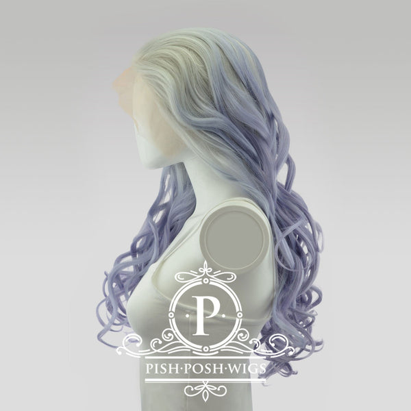 Stefeni Fusion Vanilla Purple Ombre Lace Front Wig Side View