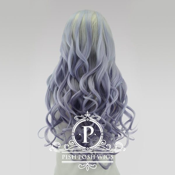 Stefeni Fusion Vanilla Purple Ombre Lace Front Wig Back View