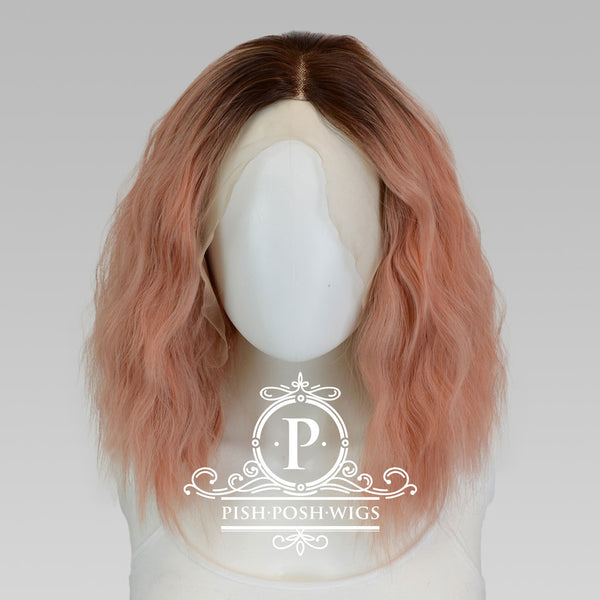 Felice Rose Gold Lace Front Wig Frontal View