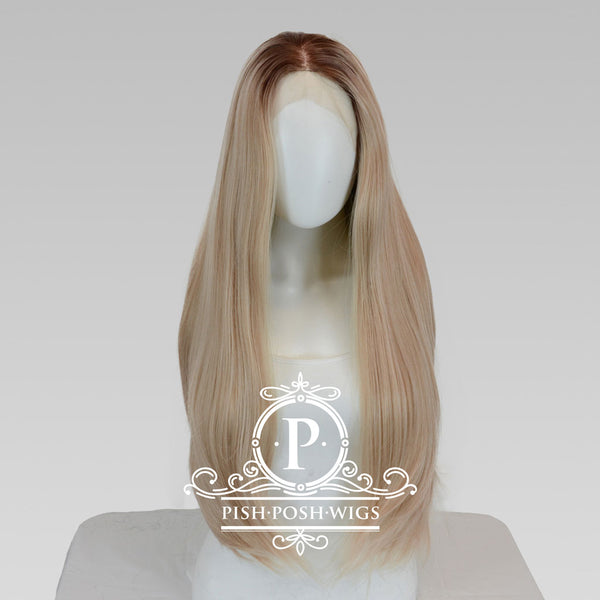 Mischa Manhattan Blonde Long Lace Front Wig Frontal View