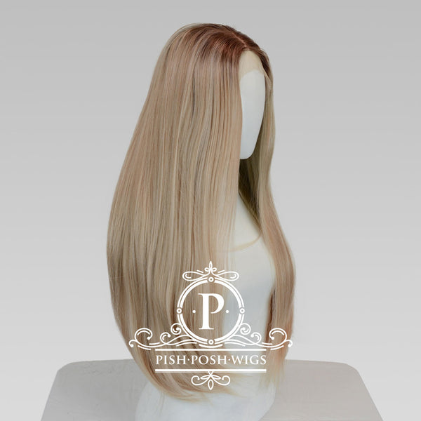 Mischa Manhattan Blonde Long Lace Front Wig Profile View
