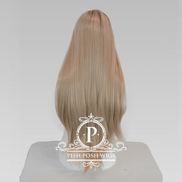 Mischa Manhattan Blonde Long Lace Front Wig Back View