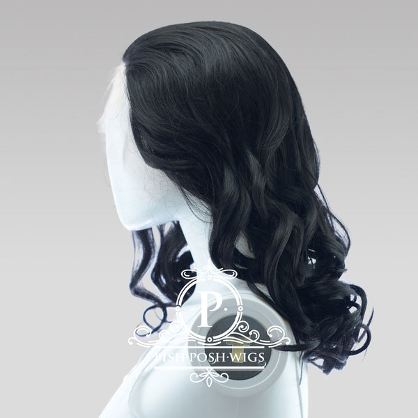Farrah Black Lace Front Wig Side View