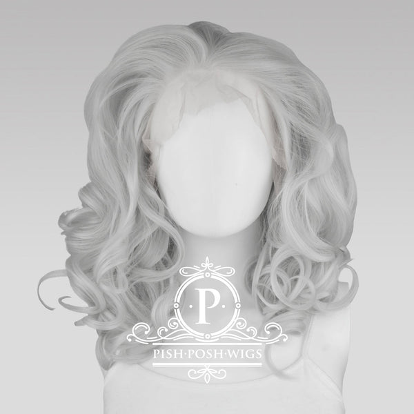 Farrah Silver Lace Front Wig Front View