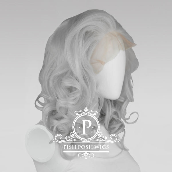 Farrah Silver Lace Front Wig Profile View