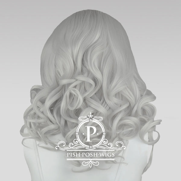 Farrah Silver Lace Front Wig Back View