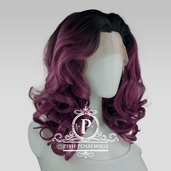 Farrah Dark Plum Lace Front Wig Profile View