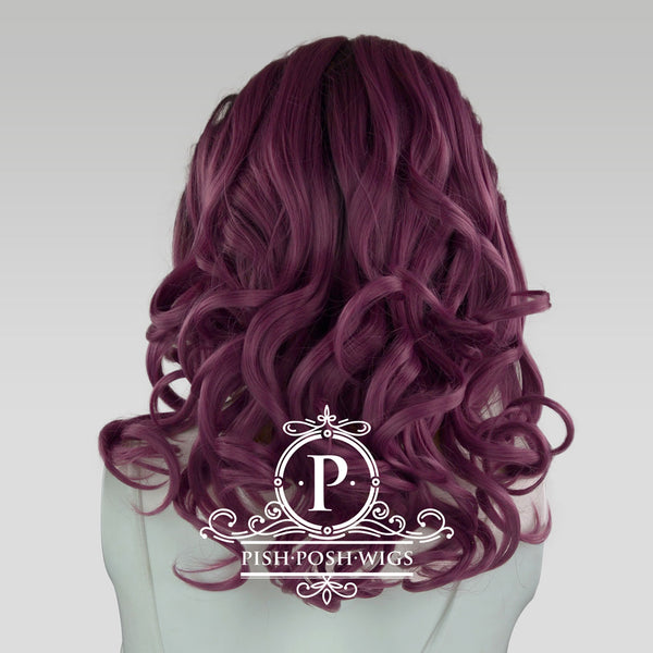 Farrah Dark Plum Lace Front Wig Back View