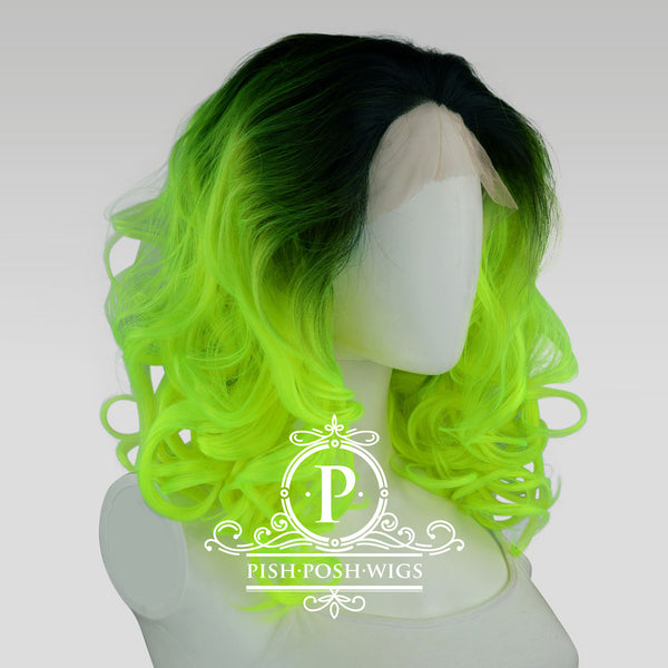 Farrah Neon Green Lace Front Wig Profile View