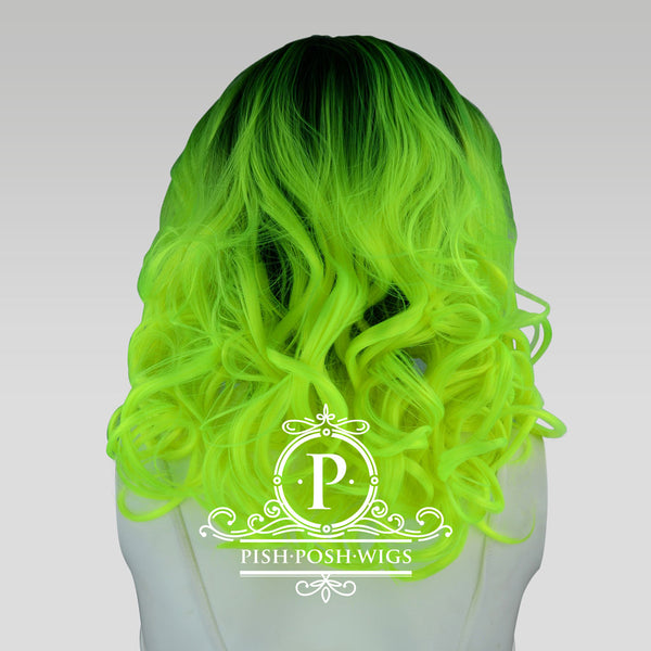 Farrah Neon Green Lace Front Wig Back View