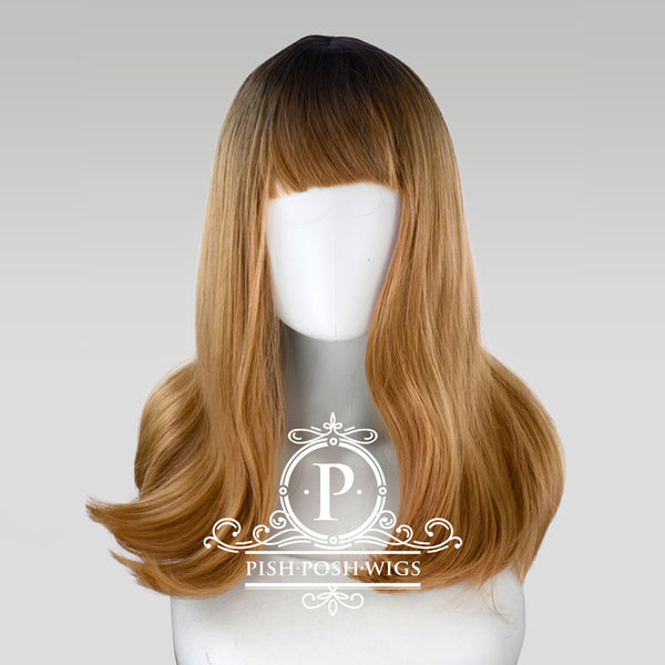 Tu Reed Flower Brown Ombre Natural Wig Frontal View