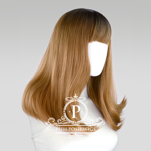 Tu Reed Flower Brown Ombre Natural Wig Profile View