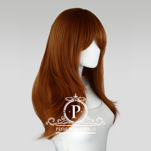 Soraya Long Cocoa Brown Wig Profile View