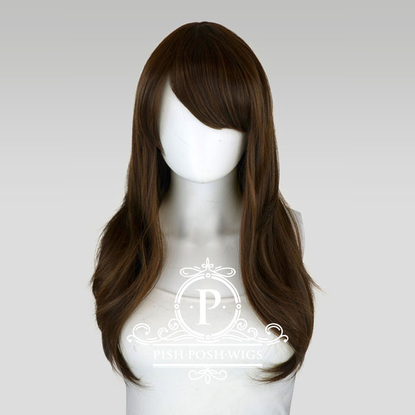 Soraya Long Dark Brown Wig Frontal View
