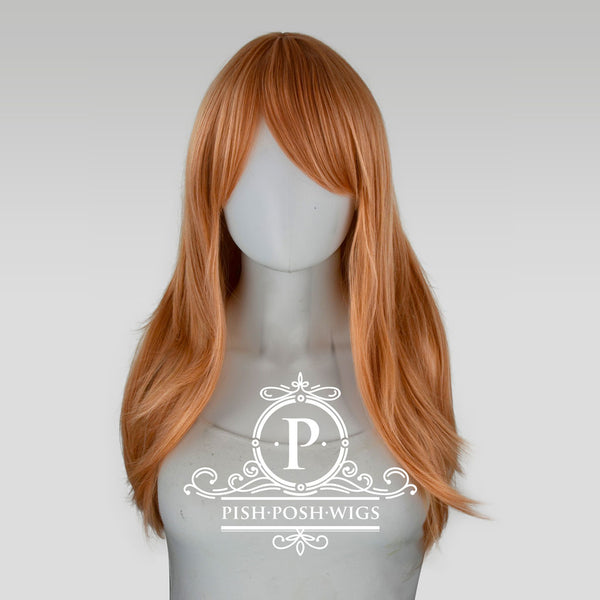 Soraya Long Pink Champagne Wig Frontal View