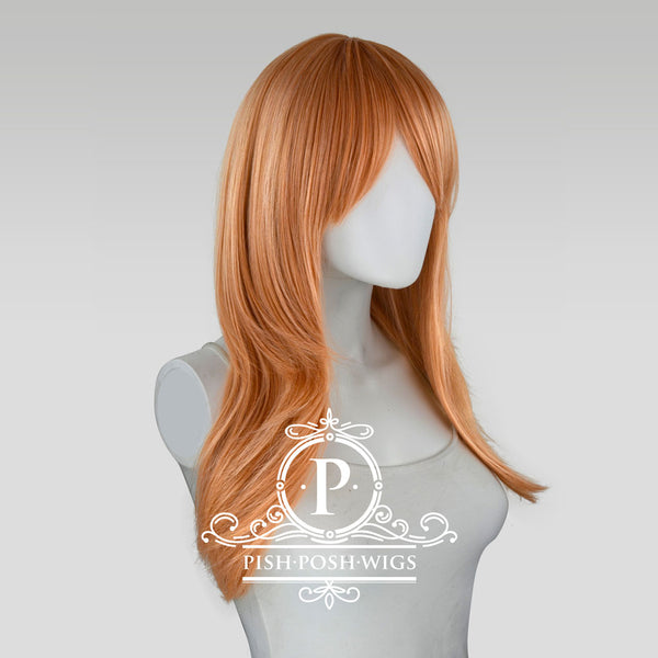 Soraya Long Pink Champagne Wig Profile View