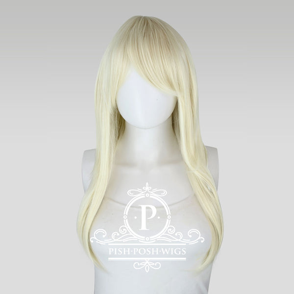 Soraya Long Platinum Blonde Wig Frontal View