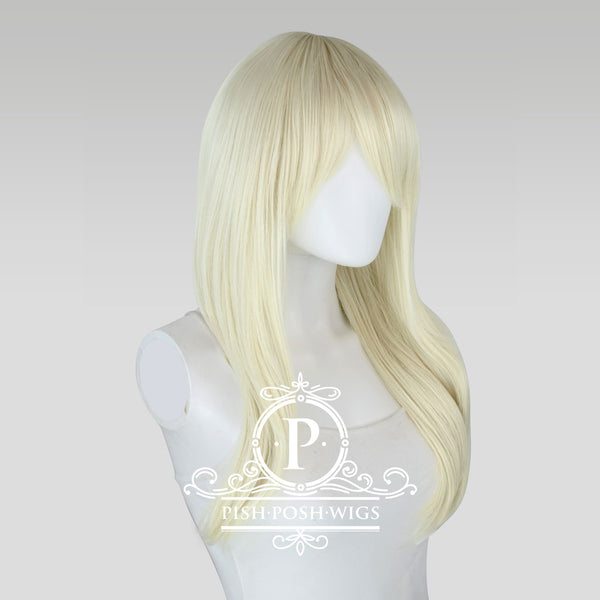 Soraya Long Platinum Blonde Wig Profile View