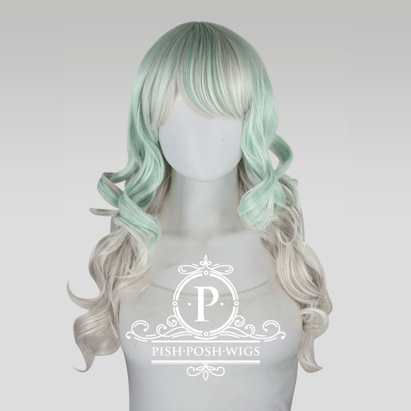 Yona Two Tone Mint Pastel Fashion Wig Frontal View