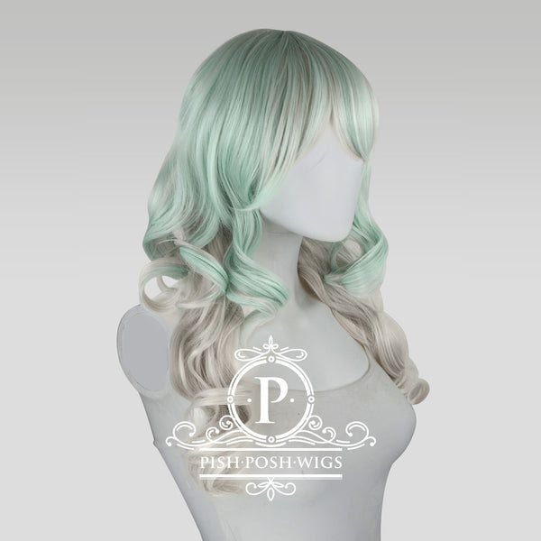 Yona Two Tone Mint Pastel Fashion Wig Profile View