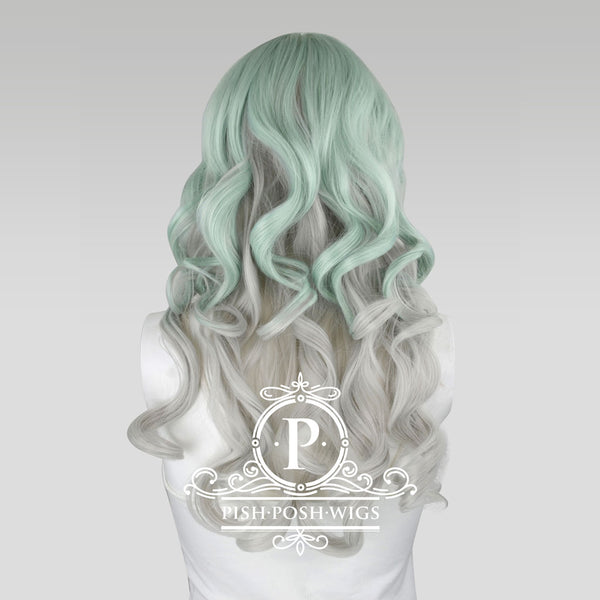 Yona Two Tone Mint Pastel Fashion Wig Back View