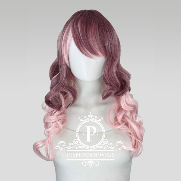 Yona Two Tone Muave Pink Rose Fashion Wig Frontal View