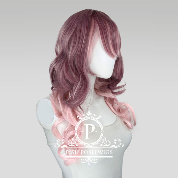 Yona Two Tone Muave Pink Rose Fashion Wig Profile View