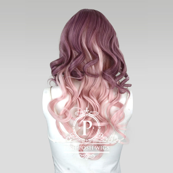 Yona Two Tone Muave Pink Rose Fashion Wig Back View
