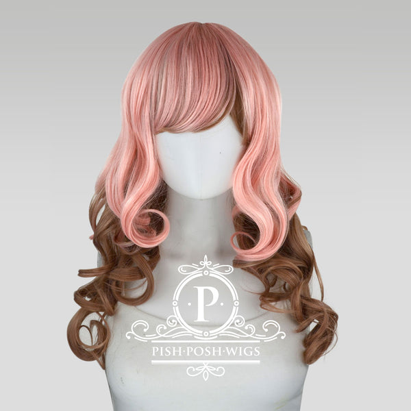 Yona Two Tone Neapolitan Pink Brown Fashion Wig Frontal View