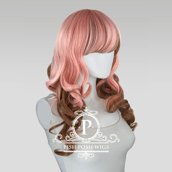 Yona Two Tone Neapolitan Pink Brown Fashion Wig Profile View
